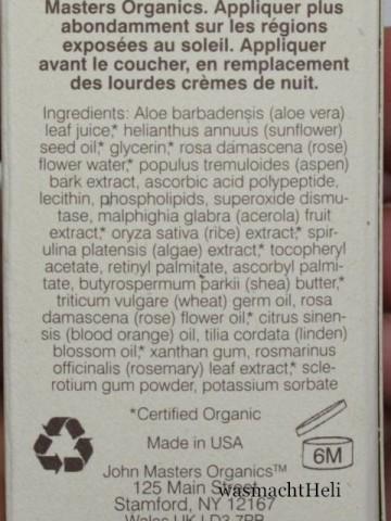 Inhaltsstoffe John Masters Organic Vitamin C Serum