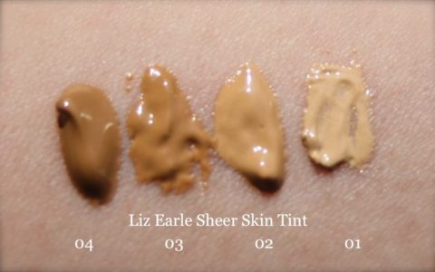 Swatches of Liz Earle Sheer Skin Tint