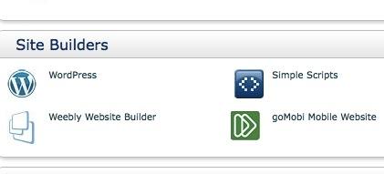 Installation WordPress.org bei Bluehost WordPress Site Builder