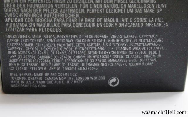 INCI MAC Prep + Prime transparent finishing powder
