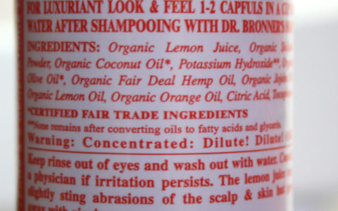 INCI Dr. Bronner's Shikakai  Conditioning Hair Rinse Citrus