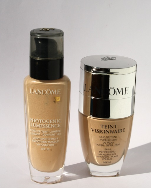 Lancome Photogenic Lumessence vs. Lancome Teint Visionnaire Foundation