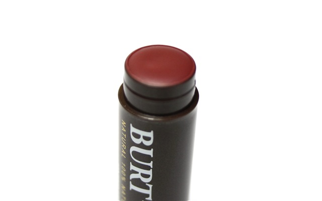 "Swatch+Review - Burt's Bees Tinted Lip Balm ""Red Dahlia"""