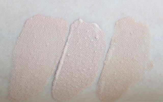 Swatches: Max Factor by Ellen Betrix Soft Resistant, Rival de Loop Long-Lasting, Catrice Infinite Matt