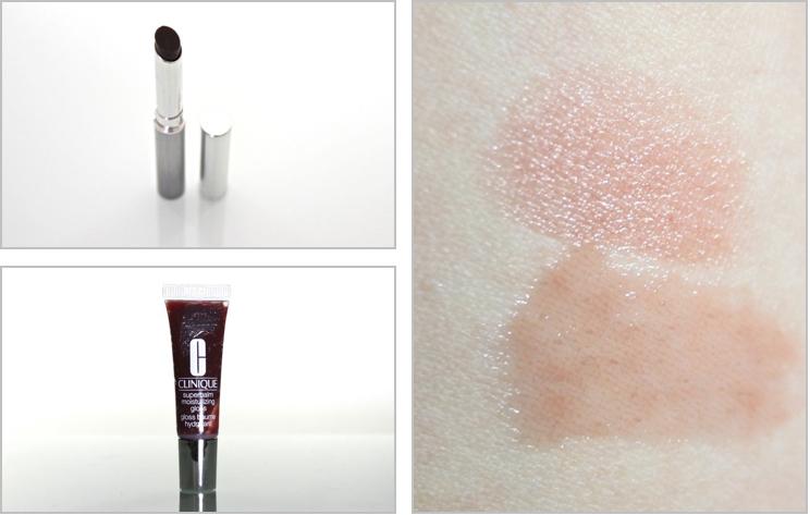 Clinique Black Honey Beauty Set, Almost Lipstick Black Honey, Superbalm Moisturizing Gloss Black Honey Swatch