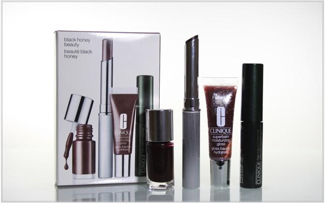 Clinique Black Honey Beauty Set, Almost Lipstick, Superbalm Moisturizing Gloss, Nail Enamel, High Impact Mascara