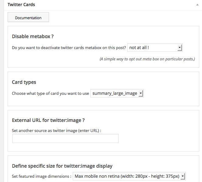 JM Twitter Cards Plugin