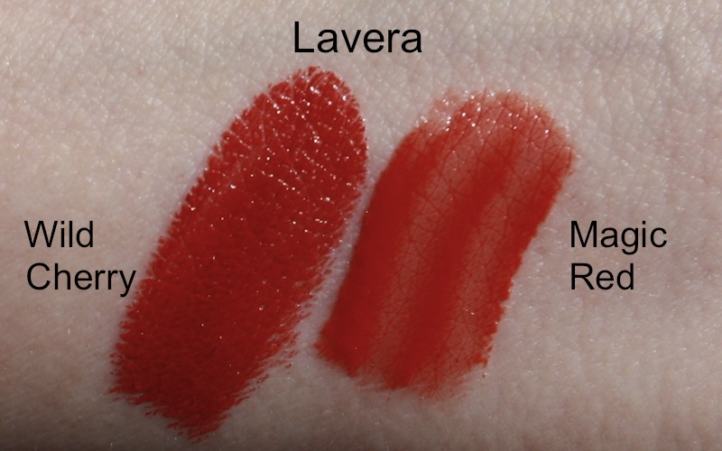 "Lavera Lipstick ""14 - Wild Cherry"" und Lavera Glossy Lips ""Magic Red"" Swatch"