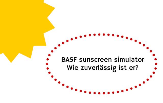 BASF sunscreen simulator - es gibt Probleme