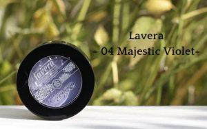 Lavera Beautiful Mineral Eyeshadow 04 Majestic Violet - Review + Tragbilder