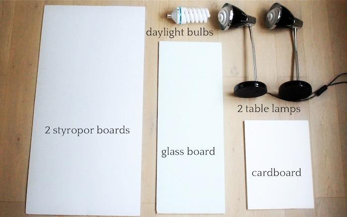 Utensils for a DIY photo studio - easy to build