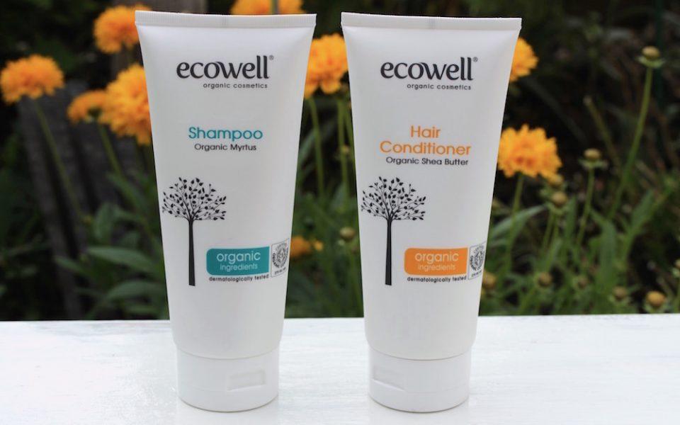 Review Ecowell Shampoo Organic Myrtus + Hair Conditioner Organic Shea Butter