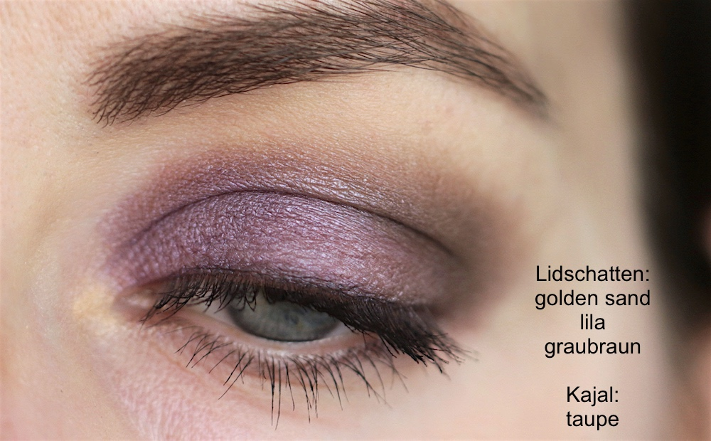 Look with Dr. Hauschka 01 golden sand, 04 greybrown, 07 lilac