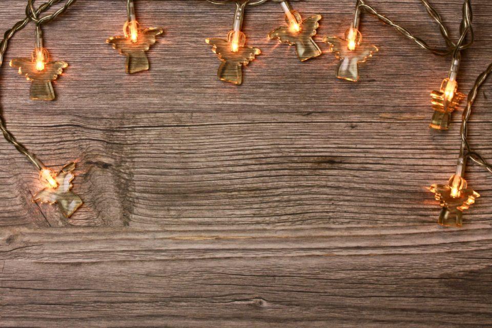 lights flatlay christmas