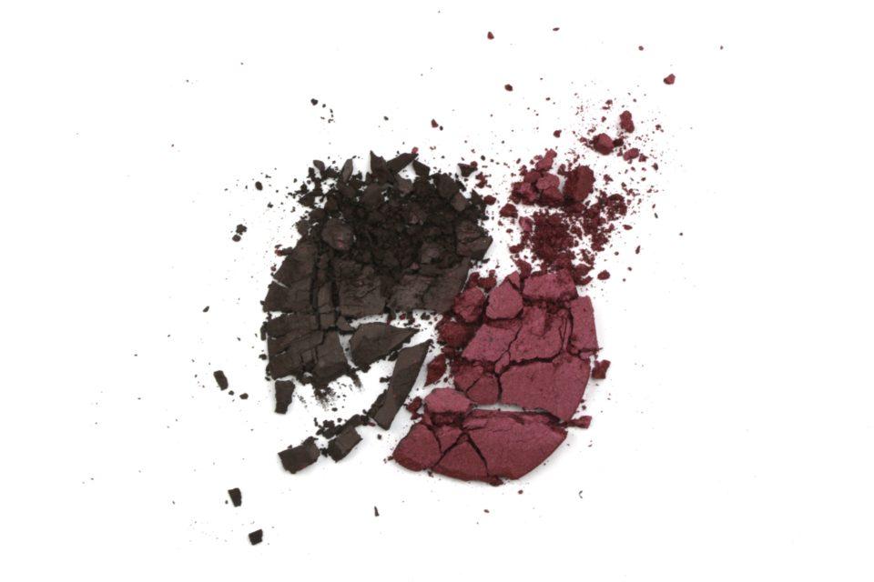 beauty crumbled eye shadow charcoal purple eggplant