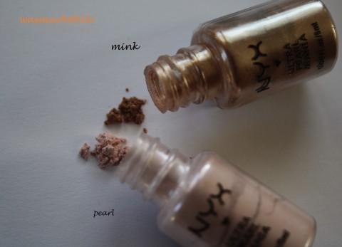 NYX Pigmente pearl und mink