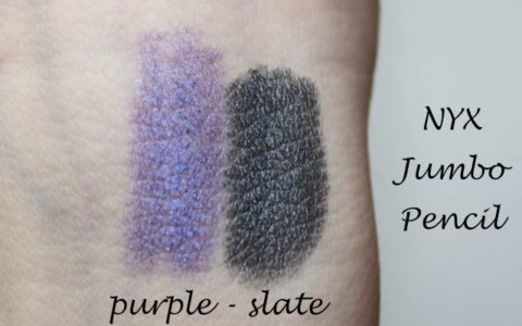 Swatch und Review: NYX Jumbo Eye Pencil purple und slate