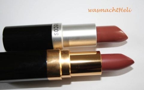 Benecos Natural Lipstick pink honey und Chanel Rouge Coco Mademoiselle