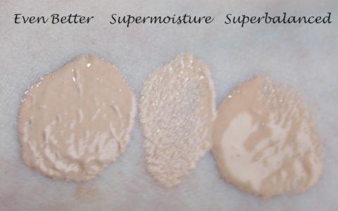 Swatches Clinique Even Better ivory, Supermoistureivory,  Superbalanced Make up ivory