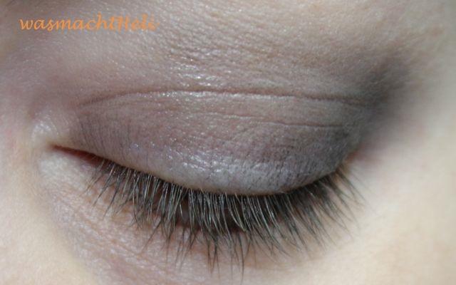 Augenmakeup mit Alverde Kunterbunte Farbwelt als Base