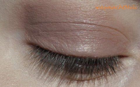 Augenmakeup mit Lily Lolo smokey brown mit Conealer gemischt