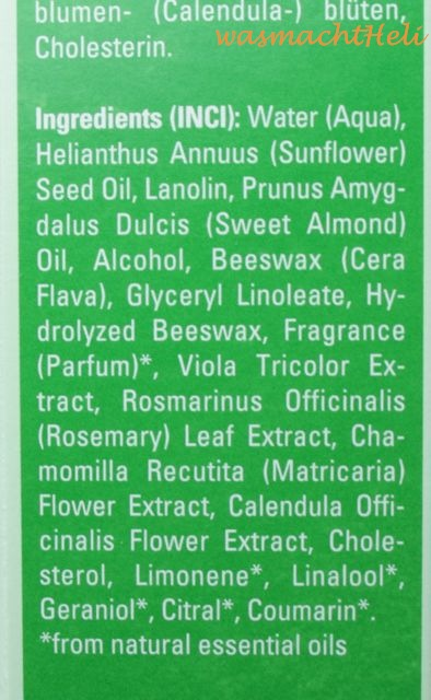 Weleda Hautcreme Skin Food Inhaltsstoffe