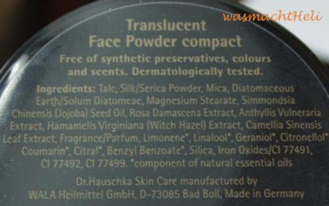 Inhaltsstoffe Dr Hauschka Translucent Compact Powder