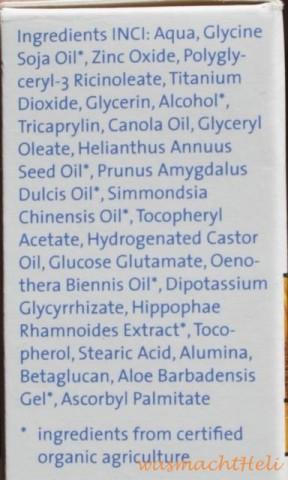Inhaltsstoffe Lavera neutral Sun Sonnenmilch SPF 20