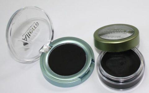 Alterra Creme Eyeliner und Alverde Schminkfarbe in schwarz