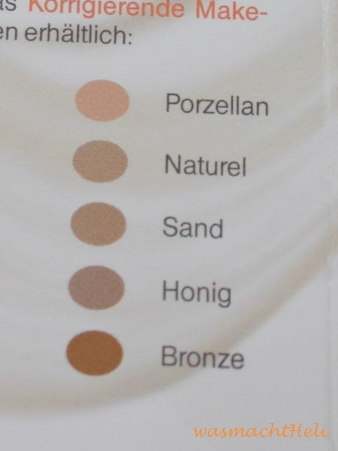 Farben Avene Couvrance korrigierendes Make up