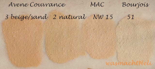 avene couvrance korrigierendes make up swatches 03 04 was macht heli. Black Bedroom Furniture Sets. Home Design Ideas