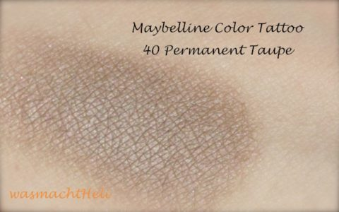 Maybelline Color Tattoo Creme Lidschatten 40 Permanent Taupe Swatch