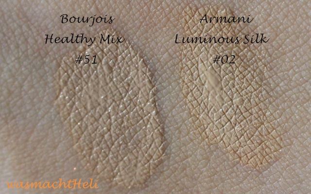 Heli_Bourjois_Healthy_Mix_51_Armani_Luminous_Silk_2_Swatches