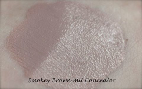 Lily Lolo Smokey Brown mixed with concealer
