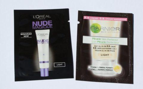 Loreal nude magique BB Cream vs. Garnier Miracle skin perfector BB Cream light