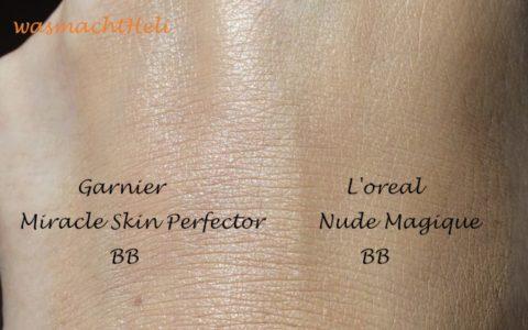 Garnier BB Cream versus L'oreal BB Cream Nude Magique