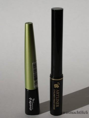 Foto vom Alverde liquid eyeliner und Lancome Artliner Vergleich