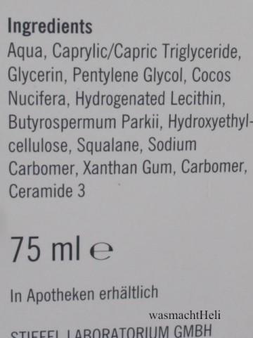 INCI Physiogel Hypoallergen Creme Stiefel
