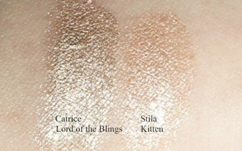 Catrice Made to Stay Lord of the Blings links Stila Smudgepot kitten rechts