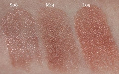 Swatches UNE Natural Beauty S08 M14 L05