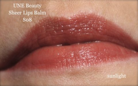 Lippenswatch UNE Sheer Lips Balm S08