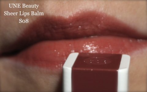 Swatch UNE Beauty sheer lips balm S08