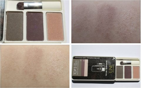 Swatches UNE Natural Beauty sfumato S15 S23 Glimmer G03