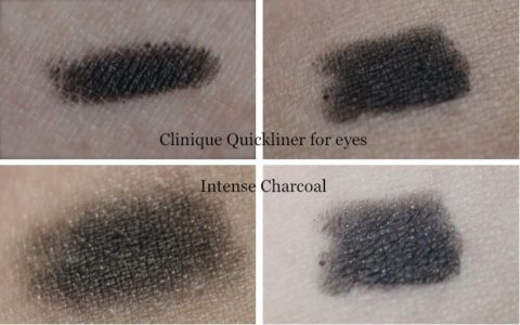 Swatches Clinique Quickliner for eyes intense charcoal