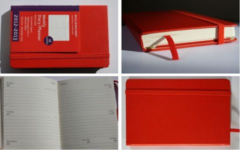 Moleskin Weekly Diary Planner 2012 2013 red