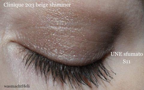 AMU mit Clinique colour surge eyeshadow 203 beige shimmer