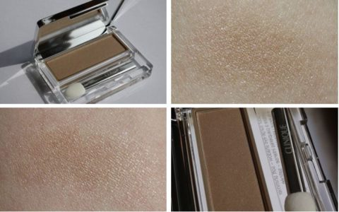 Swatch Clinique 203 beige shimmer Colour Surge Eyeshadow