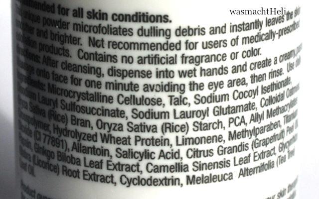 Inhaltsstoffe Dermalogica Daily Microfoliant Gesichtspeeling