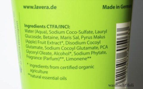 Inhaltsstoffe Lavera Apfelshampoo