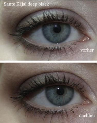 Augenmakeup mit Sante Kajal Eyeliner schwarz